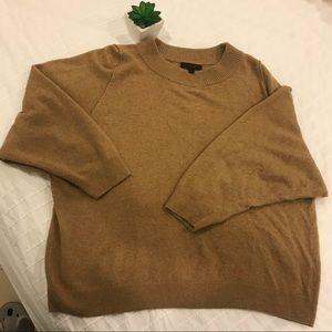 J. Crew oversized camel colored sweater